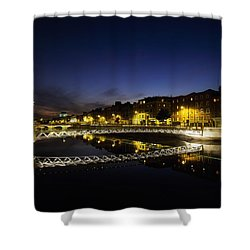 River Liffey, Millenium Footbridge At Shower Curtain by The Irish Image Collection
