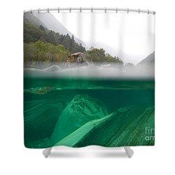 River Shower Curtain by Mats Silvan