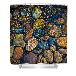 River Rock Shower Curtain by Karol Livote