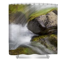 River Rocks II Shower Curtain by Jenna Szerlag