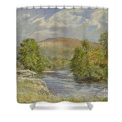 River Spey - Kinrara Shower Curtain by Tim Scott Bolton