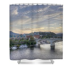 Riverfront View Shower Curtain