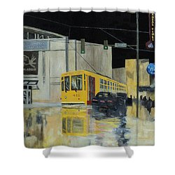 Rivermarket Streetcar 411 Shower Curtain by Angelo Thomas