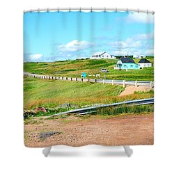 Shower Curtain featuring the photograph Road Trip In Cape Breton Nova Scotia by Joe  Ng