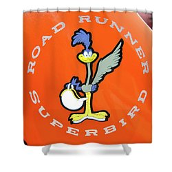 Roadrunner Shower Curtain by Guy Whiteley
