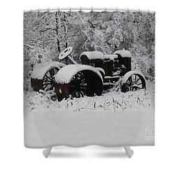 Shower Curtain featuring the photograph Robed In White by Christian Mattison