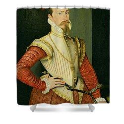 Robert Dudley - 1st Earl Of Leicester Shower Curtain by Steven van der Meulen
