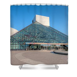 Rock And Roll Hall Of Fame II Shower Curtain by Clarence Holmes