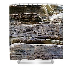 Shower Curtain featuring the photograph Rock Art by Milena Ilieva