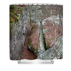 Shower Curtain featuring the photograph Rock Calving by Paul Mashburn