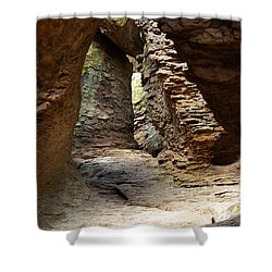 Shower Curtain featuring the photograph Rock Chamber by Vicki Pelham