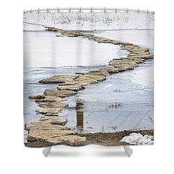 Rock Lake Crossing Shower Curtain