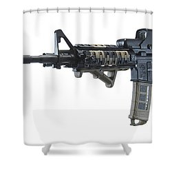 Rock River Arms Ar-15 Rifle Shower Curtain by Terry Moore