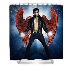 Rock Star Shower Curtain by Setsiri Silapasuwanchai