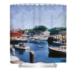 Rockport Maine Harbor Shower Curtain