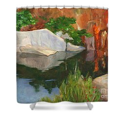 Rockport Quarry Reflection Shower Curtain