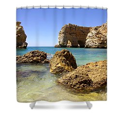 Rocky Coast Shower Curtain by Carlos Caetano