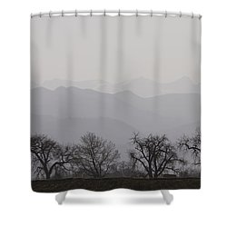 Rocky Mountain Haze Shower Curtain by James BO  Insogna