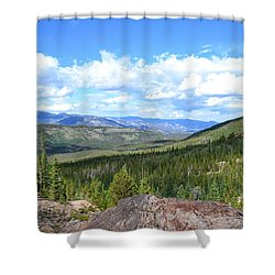Shower Curtain featuring the photograph Rocky Mountain National Park2 by Zawhaus Photography