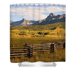 Rocky Mountain Ranch Shower Curtain
