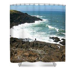 Rocky Ocean Coast Shower Curtain