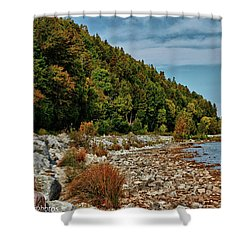 Shower Curtain featuring the photograph Rocky Shores by Rachel Cohen