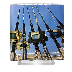 Rods Shower Curtain