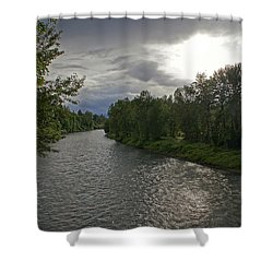 Rogue River In May Shower Curtain