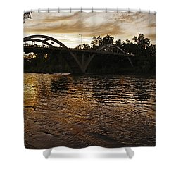 Rogue River Sunset Shower Curtain by Mick Anderson