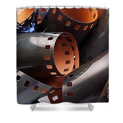 Roll Of Film Shower Curtain by Carlos Caetano