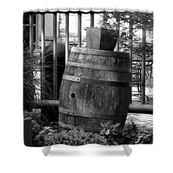 Roll Out The Barrel Shower Curtain by Shelley Blair