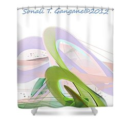 Roller Coaster Shower Curtain by Sonali Gangane