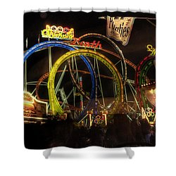Rollercoaster At The Dom Shower Curtain by Rob Hawkins