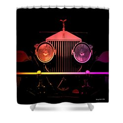 Shower Curtain featuring the photograph Rolls Royce Smile by George Pedro
