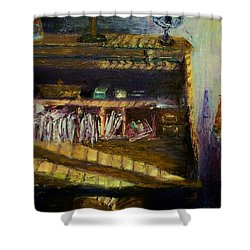 Rolltop Shower Curtain by Stephen King