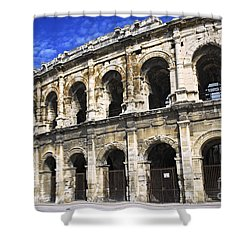 Roman Arena In Nimes France Shower Curtain by Elena Elisseeva