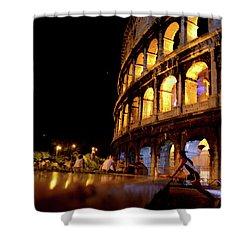 Roman Workout Shower Curtain