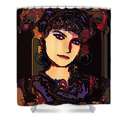 Romantic Lady Shower Curtain by Natalie Holland