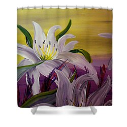 Romantic Spring Shower Curtain by Mark Moore