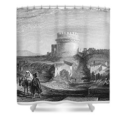 Rome: Appian Way, 1833 Shower Curtain by Granger