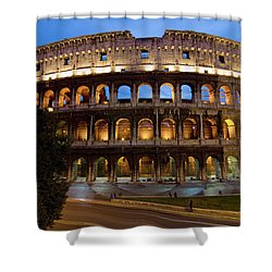 Rome Colosseum Dusk Shower Curtain by Axiom Photographic