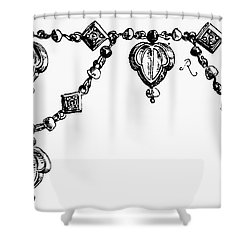 Rome: Gold Collar Shower Curtain by Granger