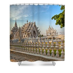 Rong Khun Temple Shower Curtain by Adrian Evans