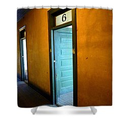 Room Six In Old Hotel Shower Curtain by Renee Trenholm