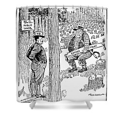 Roosevelt Cartoon, 1900s Shower Curtain by Granger