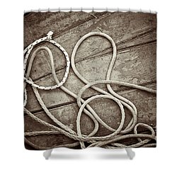 Ropes Shower Curtain by Silvia Ganora