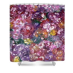 Shower Curtain featuring the painting Rose Festival by Alys Caviness-Gober
