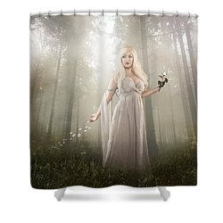 Rose Shower Curtain by Mary Hood