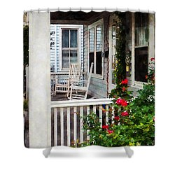 Roses And Rocking Chairs Shower Curtain by Susan Savad