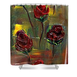 Roses Free Shower Curtain